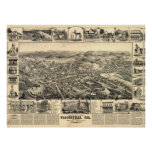 1888 Placerville CA Birds Eye View Panoramic Map Poster