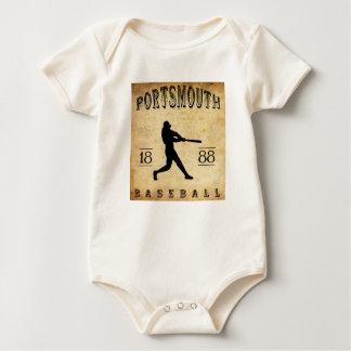 1888 Portsmouth New Hampshire Baseball Baby Bodysuit