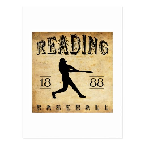 1888 Reading Pennsylvania Baseball Postcard