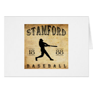 1888 Stamford Connecticut Baseball Stationery Note Card