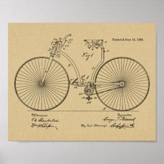 1888 Vintage Bicycle Brake Patent Art Print