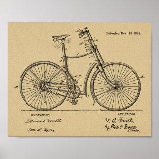 1888 Vintage Bicycle hand Brake Patent Art Print