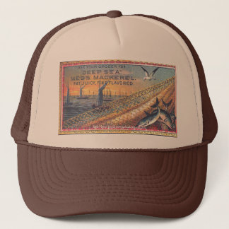 """1888 Vintage Mackerel Ad"" Trucker Hat"
