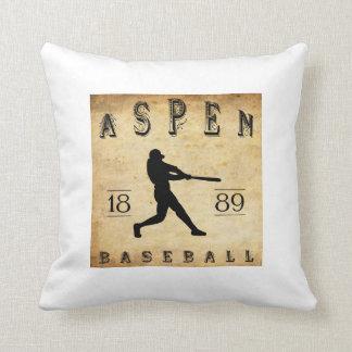 1889 Aspen Colorado Baseball Throw Pillow