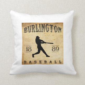 1889 Burlington Iowa Baseball Throw Pillows