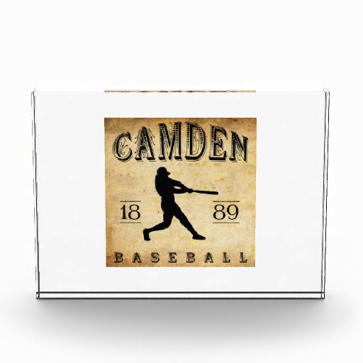 1889 Camden Delaware Baseball Acrylic Award