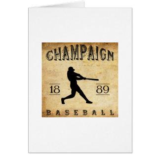 1889 Champaign Illinois Baseball Card