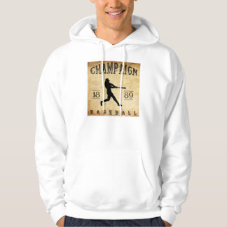 1889 Champaign Illinois Baseball Hoodie