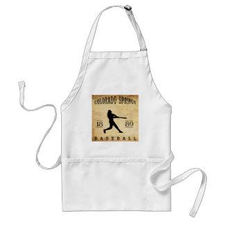 1889 Colorado Springs Colorado Baseball Apron