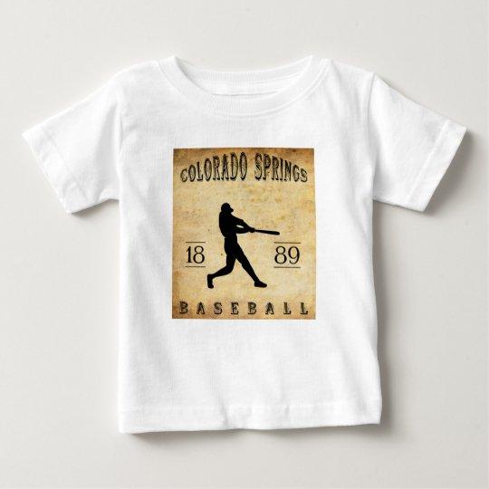 1889 Colorado Springs Colorado Baseball Baby T-Shirt