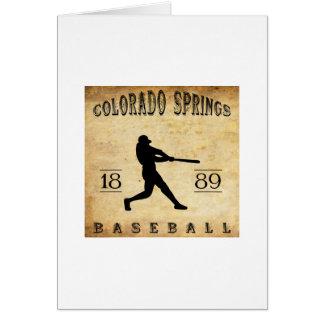 1889 Colorado Springs Colorado Baseball Card