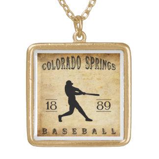 1889 Colorado Springs Colorado Baseball Custom Necklace