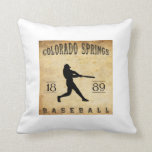 1889 Colorado Springs Colorado Baseball Throw Pillows