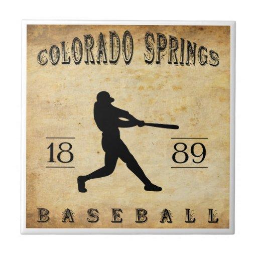 1889 Colorado Springs Colorado Baseball Ceramic Tiles
