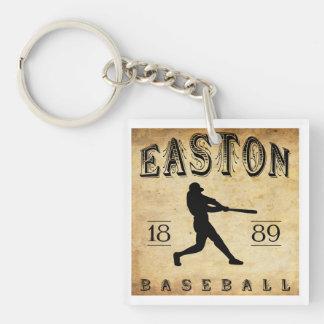 1889 Easton New Jersey Baseball Double-Sided Square Acrylic Keychain