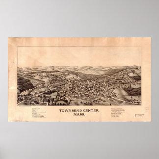 1889 el centro de Townsend, pájaros del mA observa Posters