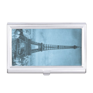 1889 Exposition Universelle Eiffel Tower Vintage Business Card Case