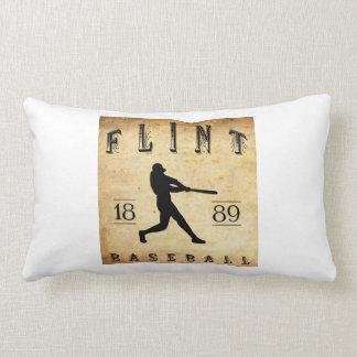 1889 Flint Michigan Baseball Throw Pillows