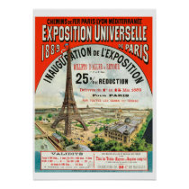 1889 French world Fair Eiffel Tower Paris vintage