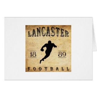 1889 Lancaster Pennsylvania Football Card