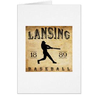 1889 Lansing Michigan Baseball Card
