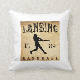 1889 Lansing Michigan Baseball Pillows