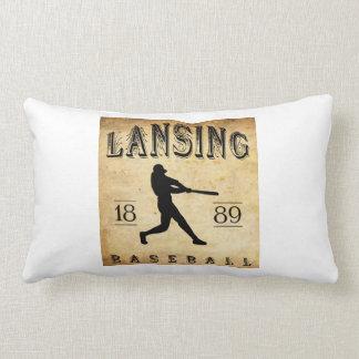 1889 Lansing Michigan Baseball Throw Pillow