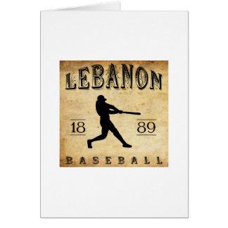 1889 Lebanon Pennsylvania Baseball Card