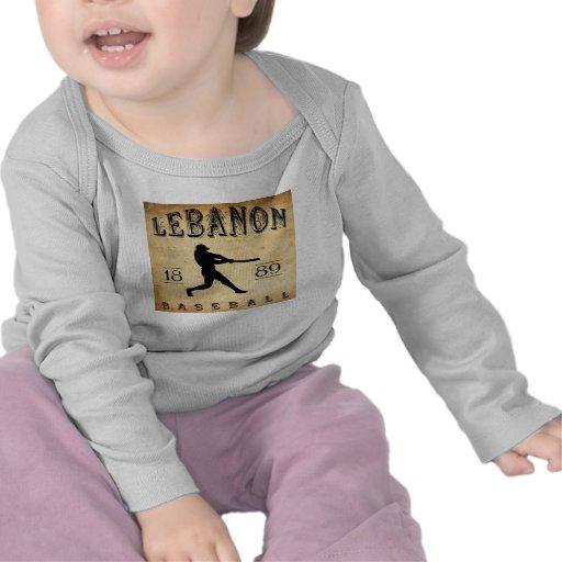 1889 Lebanon Pennsylvania Baseball Tshirts