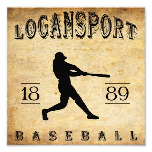 1889 Logansport Indiana Baseball Art Photo