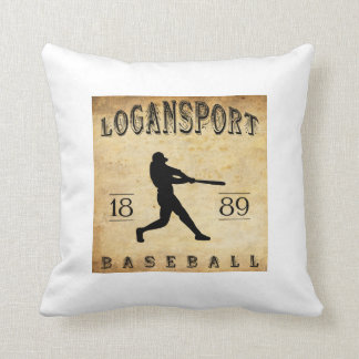 1889 Logansport Indiana Baseball Pillow