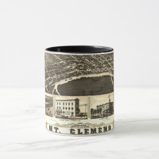 1889 - Map of historic Mt Clemens MI Mug