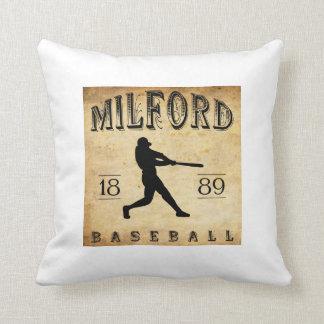 1889 Milford Delaware Baseball Pillow