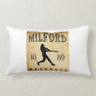 1889 Milford Delaware Baseball Throw Pillow