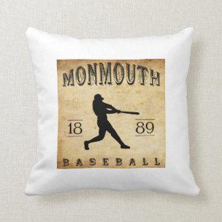 1889 Monmouth Iowa Baseball Throw Pillow
