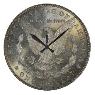 1889 Morgan Silver Dollar Tail Clocks