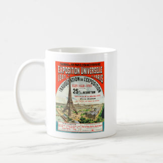 1889 Paris world Fair Eiffel Tower Vintage poster Coffee Mug