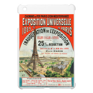 1889 Paris world Fair Eiffel Tower Vintage poster iPad Mini Cover