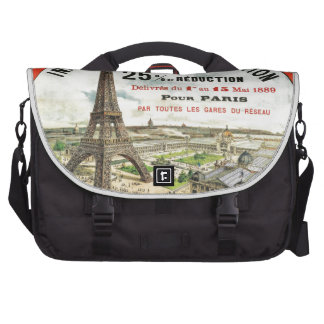 1889 Paris world Fair Eiffel Tower Vintage poster Bag For Laptop