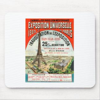 1889 Paris world Fair Eiffel Tower Vintage poster Mouse Pad