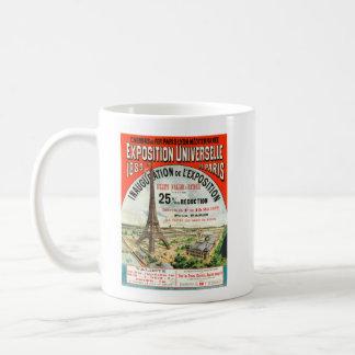 1889 Paris world Fair Eiffel Tower Vintage poster Classic White Coffee Mug