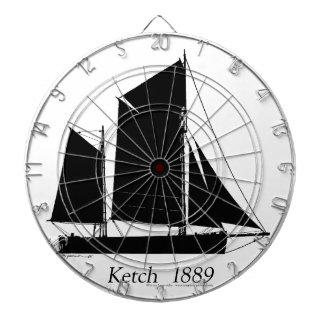 1889 solent ketch - tony fernandes dartboard
