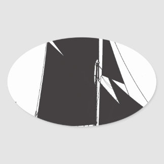 1889 spritsail barge - tony fernandes oval sticker