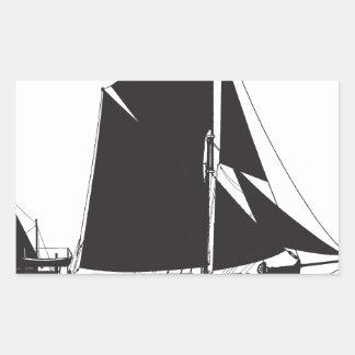 1889 spritsail barge - tony fernandes rectangular sticker