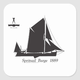 1889 spritsail barge - tony fernandes square sticker