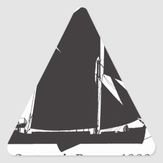 1889 spritsail barge - tony fernandes triangle sticker