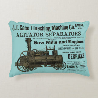 1889 Steam Traction Engine Ad Farm Tractor Farming Accent Pillow
