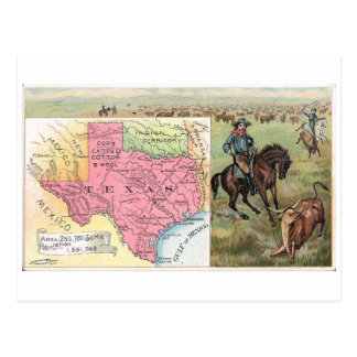 1889 Texas Vintage Trading Card Post Cards