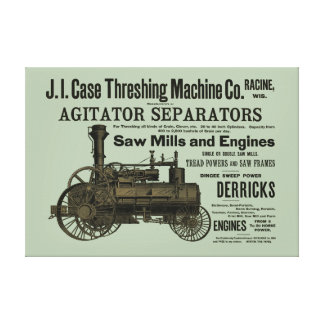 1889 Threshing Machine Steam Engine Farm Farming Canvas Print