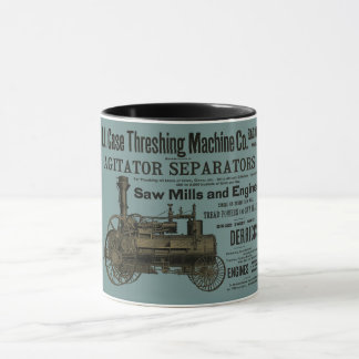 1889 Threshing Machine Steam Engine Farm Farming Mug